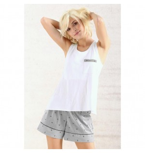 Pijama de short-RAYAS-Options-Femenino