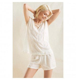 Pijama de short-OFF WHITE-Options-Femenino