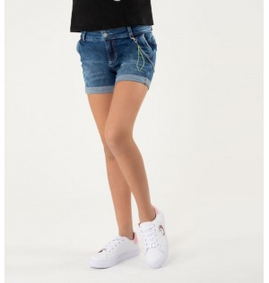 Short para niñas Junior con cadena