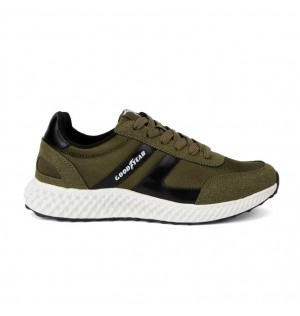 Tenis Running Para Hombre Marca Good Year, Color Verde