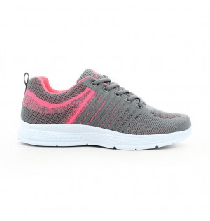 Tenis Running Para Mujer Marca Xtep, Color Gris
