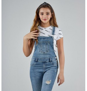 Overall para niñas Junior en denim